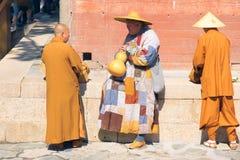 Cérémonie religieuse de bouddhisme Photos libres de droits