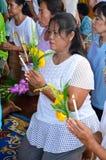 Cérémonie religieuse en Thaïlande Images libres de droits