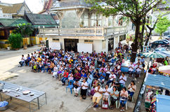 Cérémonie religieuse en Thaïlande Photographie stock libre de droits