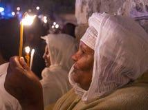 Cérémonie sainte éthiopienne d'incendie Images stock