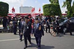 Cérémonie Simpanglima de l'indépendance à 71 à Semarang Image libre de droits