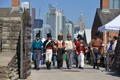 Cérémonies commémoratives au fort York Photos stock