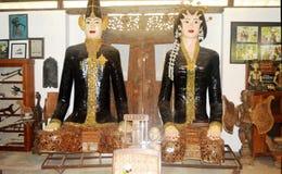 Cérémonies de mariage traditionnelles dans Java image libre de droits