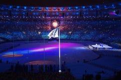 Cérémonies Rio2016 colosing au stade de Maracana photographie stock libre de droits