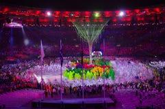 Cérémonies Rio2016 colosing au stade de Maracana image stock