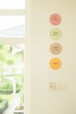 Céramique de cadre de label de café Photos libres de droits