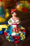 Céramique folklorique ukrainienne de souvenir de souvenir de jouet de Motrya Photos stock