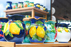 Céramique italienne traditionnelle Photos stock