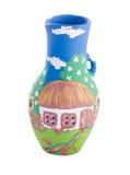 Céramique traditionnelle ukrainienne de poterie Photos stock