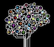 Cérebro abstrato ilustração stock