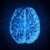 cérebro background com arquivo de brain O conceito de thinking Brain Neurons Fundo abstrato da tecnologia ilustração do vetor