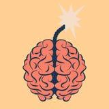 Cérebro com faísca Fotos de Stock Royalty Free