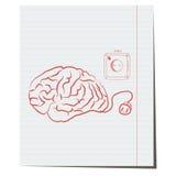 Cérebro com tomada elétrica Fotos de Stock