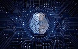 Cérebro Cybernetic imagem de stock royalty free