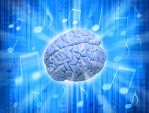 Cérebro da faculdade criadora da música imagem de stock