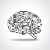 Cérebro da ilustração do vetor das engrenagens Imagem de Stock Royalty Free