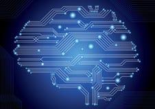 Cérebro da placa de circuito ilustração stock