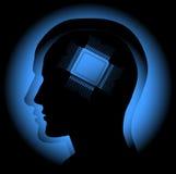 Cérebro de Digitas Imagem de Stock