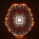 Cérebro de néon abstrato Foto de Stock