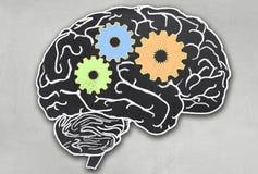 Cérebro de trabalho com trajeto de grampeamento ilustração stock