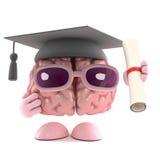 cérebro do graduado 3d ilustração do vetor