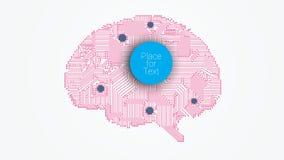 Cérebro do vetor da placa de circuito Imagens de Stock Royalty Free
