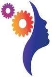 Cérebro e engrenagem Foto de Stock Royalty Free