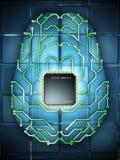 Cérebro eletrônico Foto de Stock Royalty Free