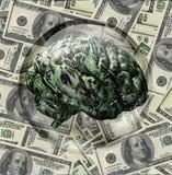 Cérebro financeiro ilustração stock