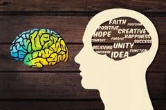 Cérebro humano e pensamento positivo Fotos de Stock