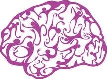 Cérebro psicadélico Ilustração do Vetor