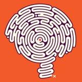 Cérebro surpreendente do labirinto Imagens de Stock Royalty Free