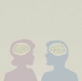 Cérebros de pensamento Fotografia de Stock Royalty Free