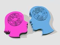 Cérebros do labirinto Imagens de Stock