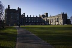 Césped del castillo de Kilkenny Fotos de archivo libres de regalías