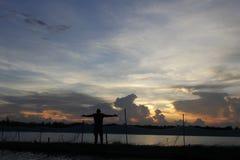 céu & água Imagem de Stock