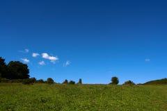 Céu aberto e verde Fotografia de Stock Royalty Free