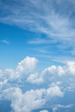 Céu acima da nuvem do plano de ar fotografia de stock royalty free