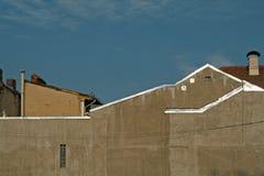 Céu acima das construções fotografia de stock royalty free