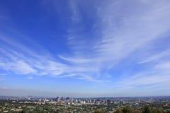 Céu acima de Los Angeles Fotos de Stock Royalty Free