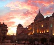 Céu acima de Novi Sad Imagem de Stock Royalty Free