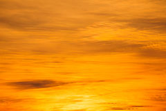 Céu alaranjado Foto de Stock