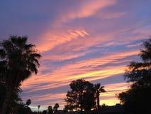 Céu alaranjado Fotografia de Stock