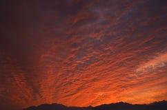 Céu alaranjado Foto de Stock Royalty Free