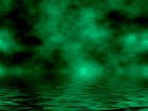 Céu & água verdes Imagens de Stock