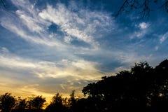 Céu após o por do sol Imagem de Stock