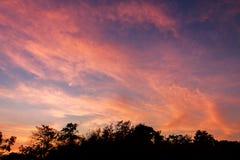 Céu após o por do sol Fotografia de Stock