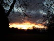 Céu ardente fotos de stock
