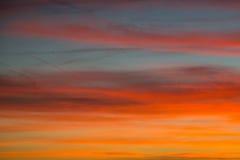 Céu ardente Imagem de Stock Royalty Free
