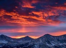 Céu ardente Imagens de Stock Royalty Free